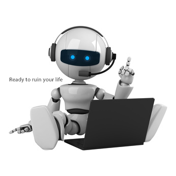 Bot with middle finger up